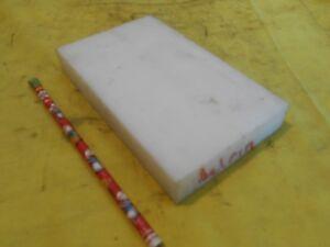 "NATURAL DELRIN BAR machinable plastic flat sheet stock 1"" x 4"" x 6 1/2"" OAL"