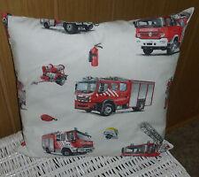 Kinderzimmer Kissen Kuschelkissen für Kinder Feuerwehr Auto 40 x 40 cm