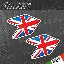 2 adesivi auto moto JDM sticker bomb Wakaba Leaf Uk England flag small