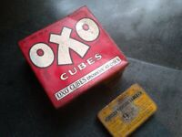 2 x Vintage Tins Oxo Cubes & Iodised Throat Tablets