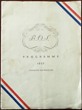 More details for music in the air. bentallian operatic society programme 1937 coronation year pro