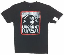 "Space Ape ""I Work At Nasa"" Black T-shirt Medium"