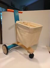 Plan Toys #174 Shopping Push Car for Toddlers ages 3-7 23 Inches Tall Wooden