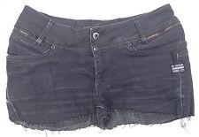 EUC - RRP $199 - Womens G-Star Raw 'BERLIN STRAIGHT WMN' Black Cut-Off Shorts