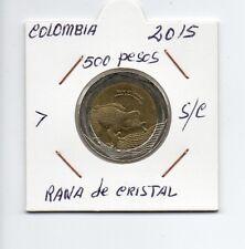 Moneda De Colombia 500 Pesos 2016 Rana de Cristal  sin circular Ref. M240