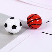 10pcs 1:12 Dollhouse Miniature Sports Balls Soccer Football and BasketbalQA