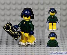 LEGO - Roller Skater Minifigure w/ Boombox - Headset DJ Radio Rapper Beach Dude