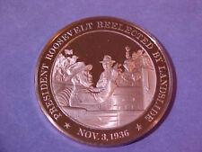 Franklin D. Roosevelt Reelected Commemorative PROOF Medal By The Franklin Mint