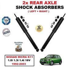 Per NISSAN MICRA K11 1.0i 1.3i 1.4i 16 V 1992-2003 Asse posteriore Ammortizzatori Set