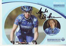 CYCLISME carte cycliste ANKE WICHMANN équipe NURNBERGER signée