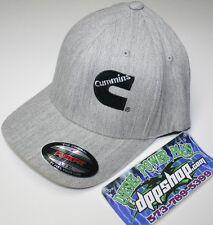 bba164369f837 Cummins diesel cummings flexfit hat ball cap fitted flex fit grey L XL  heather