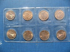 Eight Ireland Halfpennies 1967. High Grades & Sealed.
