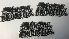 "METAL MULISHA Icon Logo 3-pack Of Stickers 3"" By 1 1/2""."