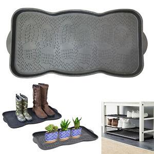 Plastic Shoe Tray Wellies Boots Garden Plants Home Door Multi Purpose Storage