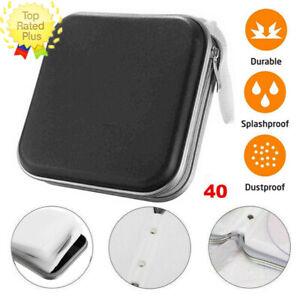 BLACK 40 CD DVD Carry Case Disc Storage Holder CD Sleeve Wallet Ideal for In Car