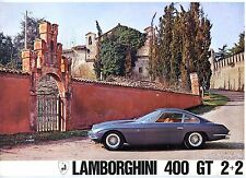 Lamborghini 400 GT 2+2 sales brochure Prospekt, 1966