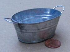 1:12 SCALA Extra Large Ovale vuota in metallo Ciotola Vasca da Bagno Casa Delle Bambole Giardino Fata