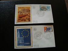 FRANCE - 2 enveloppes 1er jour 1976 (port louis-conseil europe) (cy19) french