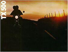 YAMAHA Brochure TX500 TX500A 1974 Sales Catalog Catalogue REPRO