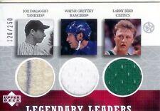 2003 UD  Legendary Leaders Triple Game Jerseys J.DiMaggio /W.Gretzky /L.Bird
