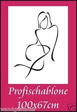 Schablone, Wandschablone, Wandschablonen, Malerschablone, Modernart, Frauenakt 1