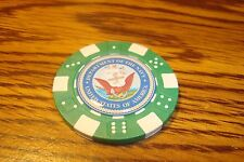 Usn Department of The Navy Dice design Poker Chip,Golf Ball Marker,Card Guard