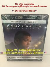 Concussion (4K ULTRA HD+Blu-ray+Digital HD) Brand New Sealed Ships Fast!!