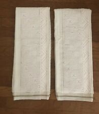 NWT Anthropologie SET OF TWO  White with Grey Ava Bath Towels