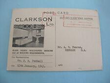Bathroom Ware Clarkson Ltd Store Advertising Representatives Callout Postcard