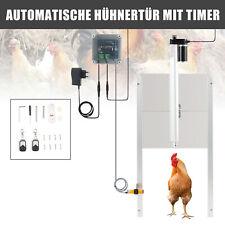 Hühnertür+Schieber Hühnerklappe Stallöffner Automatisch  Hühner-Pförtner Timer