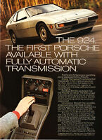 "1977 Porsche 924 Coupe photo ""First Fully Automatic Transmission"" promo print ad"