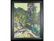 Impressionist style original oil on board, indistincly signed. Framed