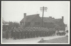 Postcard Penn Amersham Crown pub WW2 Home Guard military Dad's Army printed 1986