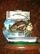 Bradford Exchange, Collectible 3D Fish Plate,4th Issue Fish Tales, Feeding Frenz