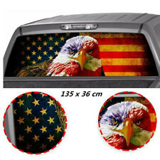 Sunscreen American Eagle Flag Over Eye Car Rear Window Graphic Decal Truck SUV