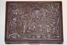 La Chine 19. JH. LACKDOSE Qing-A Chinese cinnabar lacquer box-cinese chinois