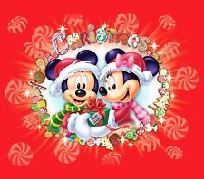 Mickey & Minnie Christmas Iron On Transfer For T-Shirt & Light Color Fabrics #4