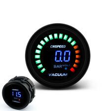 "2"" 52mm Car Smoke Lens LED Digital Bar Vacuum Gauge Meter With Sensor"