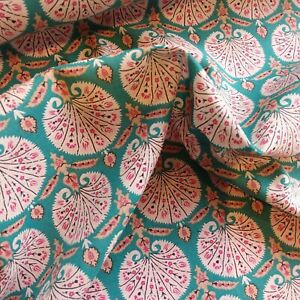 """Jade Green Pima Lawn Cotton Fabric, 58"""" wide, by the FQ, Silk Like"""