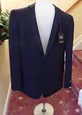 Van Heusen Navy Blue Slim Fit Stretch Suit Jacket Blazer 46 Long