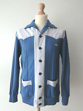 Rare Adidas West Germany 70's Vintage Retro Wool Blend Cardigan Sweater Size L