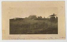 1910 AVERY Tractor Threshing Ismay  Montana RPPC