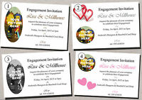 Personalised Engagement Photo Invitations Cards - 50 invites with envelopes