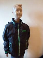 Jungen Sommer - Jacke schwarz mit grün abgesetzt - Größe 140 -