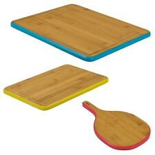 Wooden Bamboo Chopping Board Kitchen Food Cutting Small Large Round Rectangle