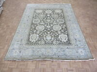 9 X 11'10 Hand Knotted Brown Blue Sultanabad Oushak Oriental Rug G5763