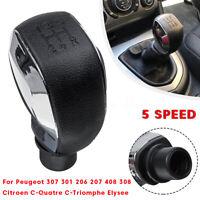 5 Pommeau Levier vitesse MT pour Peugeot 307 301 206 207 408 308 508 2008 3008