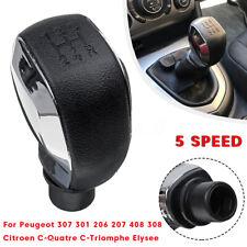 5 Pommeau Levier de vitesse MT pour Peugeot 307 301 206 207 408 308 Citroen C4