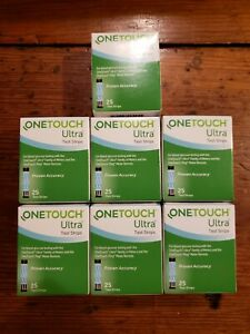 OneTouch Ultra Blue Test Strips 7 Brand New 25ct Boxes Expire 9/2021