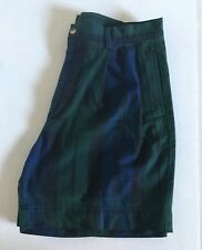 Vintage 90's Nautica Plaid Mens Size 34 Golf Casual Shorts Fast Free Shipping